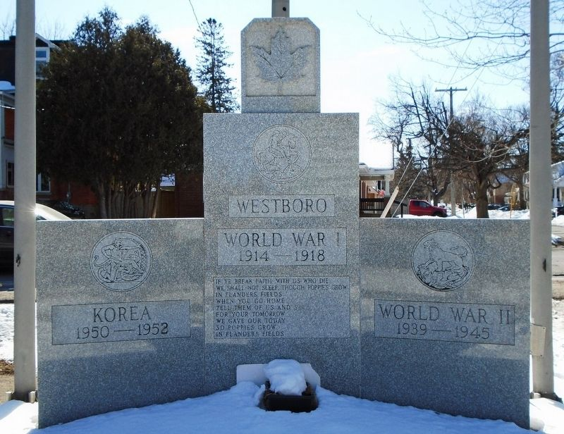 Westboro War Memorial image. Click for full size.