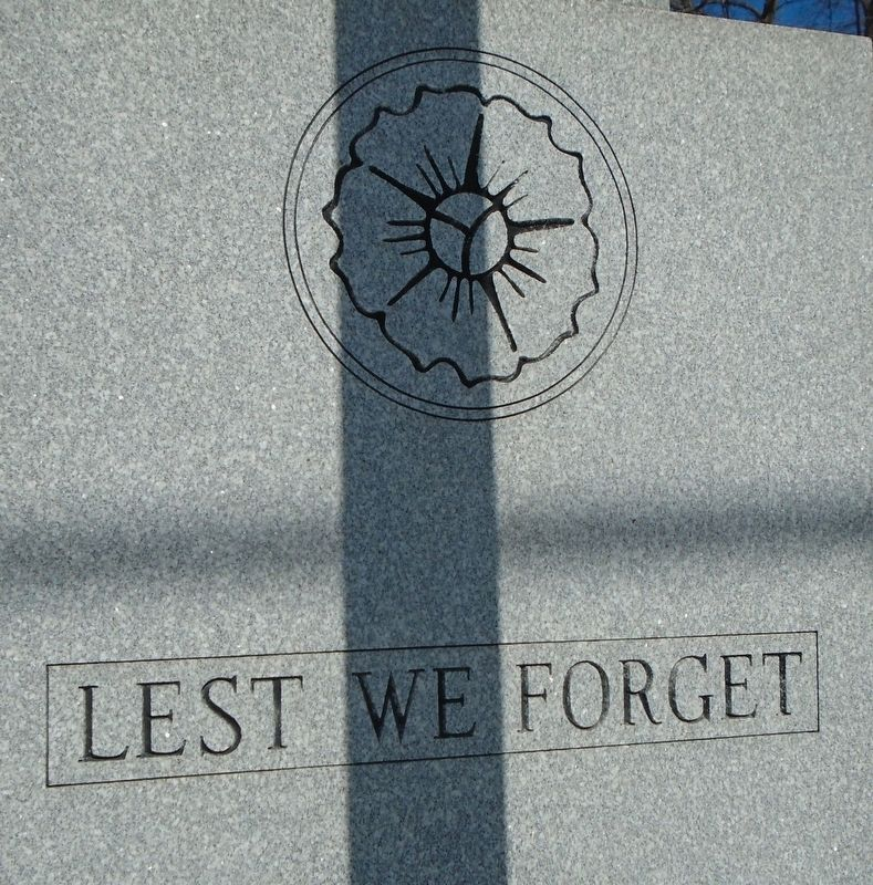 Westboro War Memorial (back) image. Click for full size.