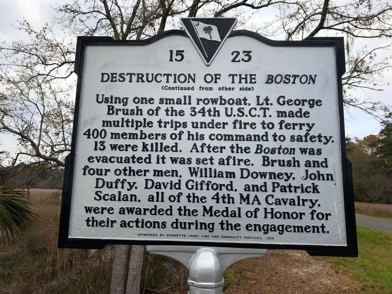 Destruction of the <i>Boston</i> Marker, Side Two image. Click for full size.