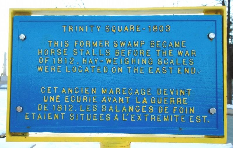 Trinity Square - 1803 Marker image. Click for full size.