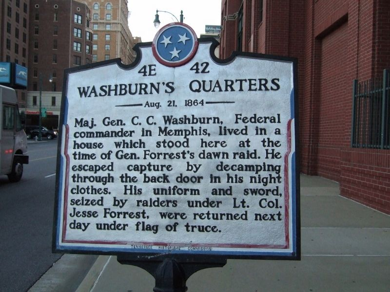 Washburn's Quarters Marker image. Click for full size.