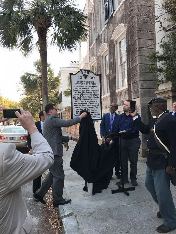 Dedication and unveiling of the marker image. Click for full size.