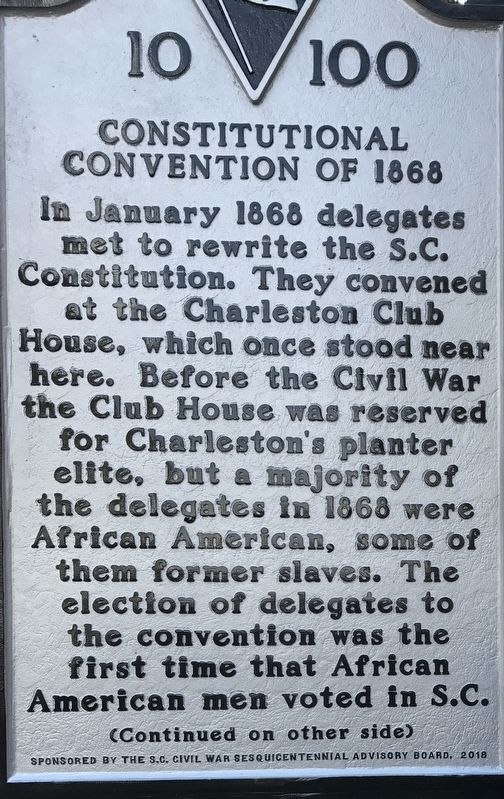 Constitutional Convention of 1868 Marker image. Click for full size.