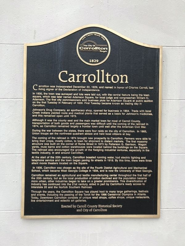 Carrollton Marker image. Click for full size.