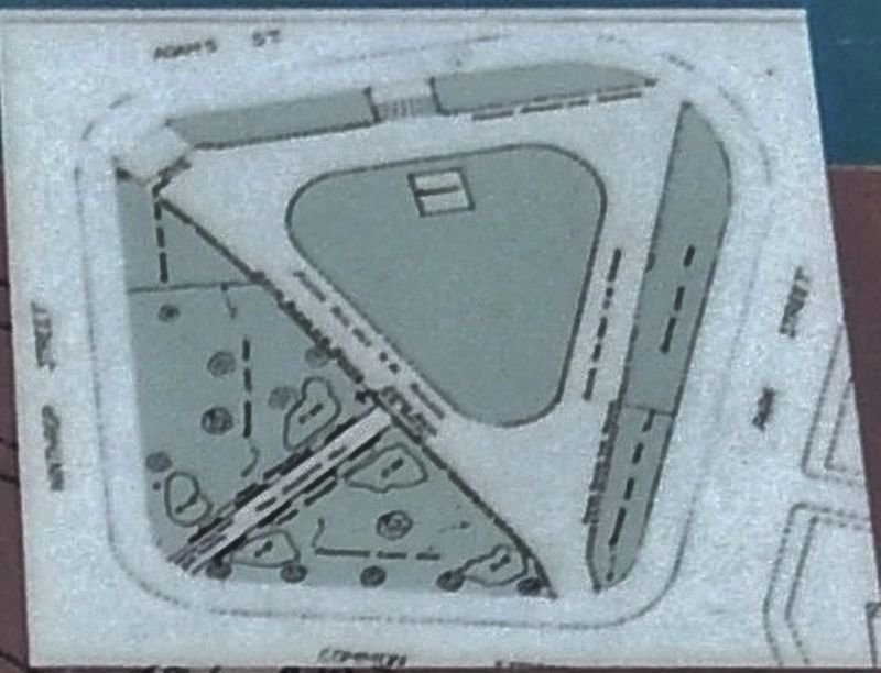 Marker detail: The Training Field Today image. Click for full size.