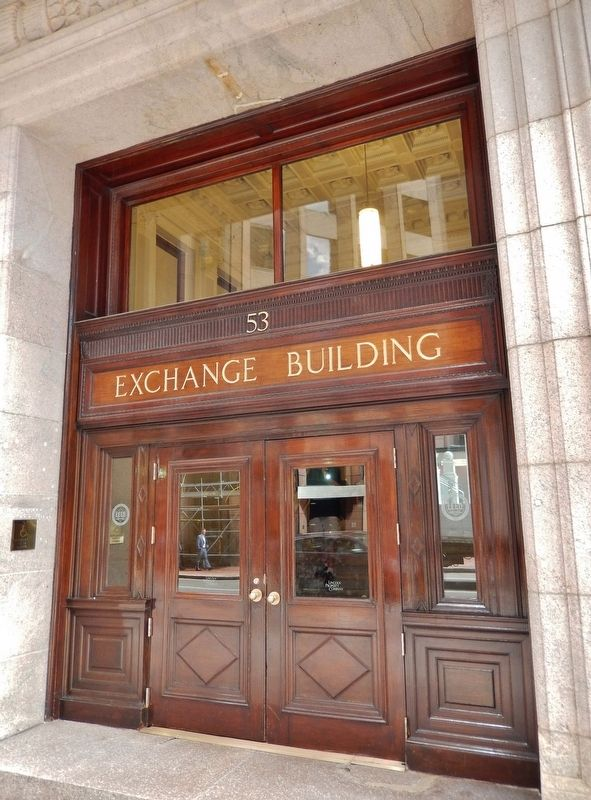 Exchange Building Entrance (<i>a few steps east of marker</i>) image. Click for full size.