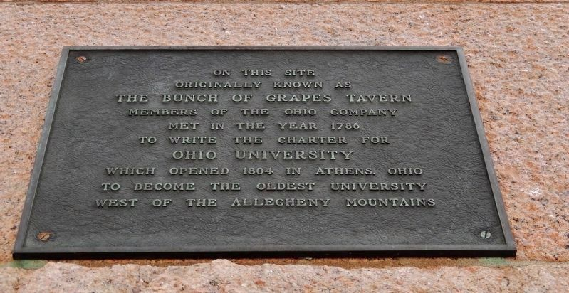 Ohio University Charter Plaque (<i>a few steps to the right of this marker</i>) image. Click for full size.