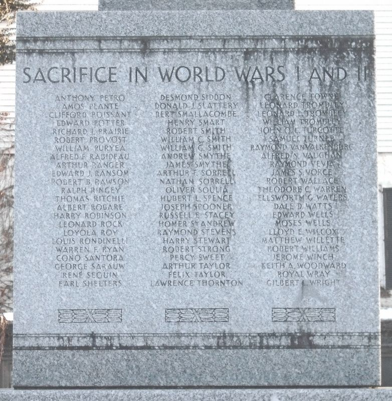 War Memorial Honored Dead image. Click for full size.