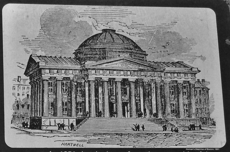 Marker detail: 1851 sketch, drawn from the water side of the newly-built Custom House image. Click for full size.