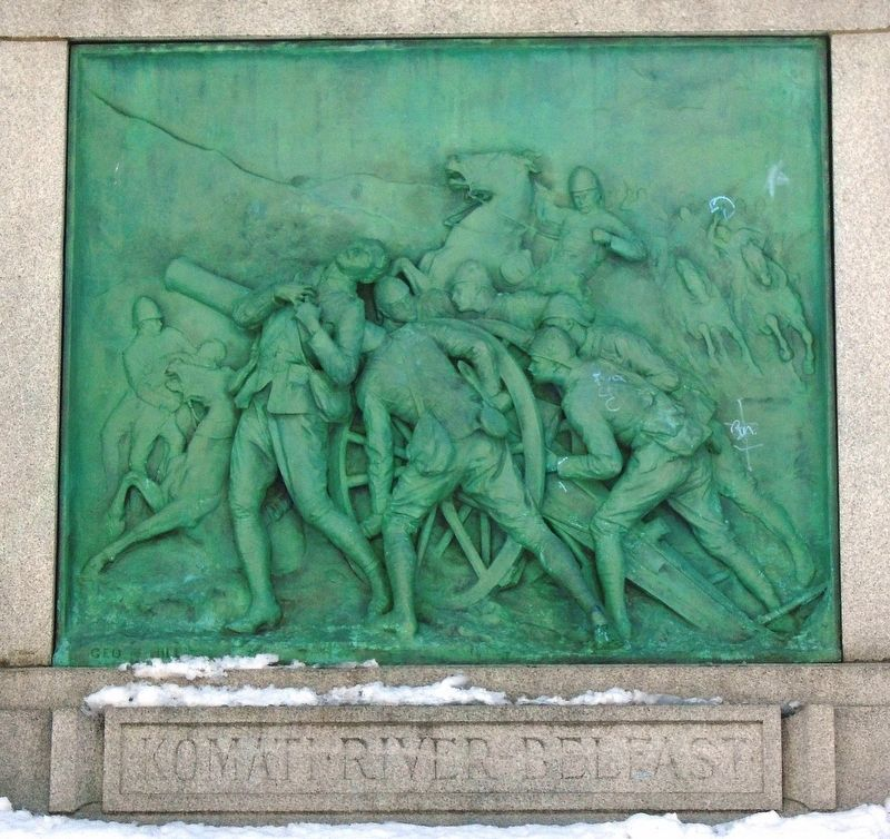 Boer War Memorial NE Elevation Bas Relief image. Click for full size.