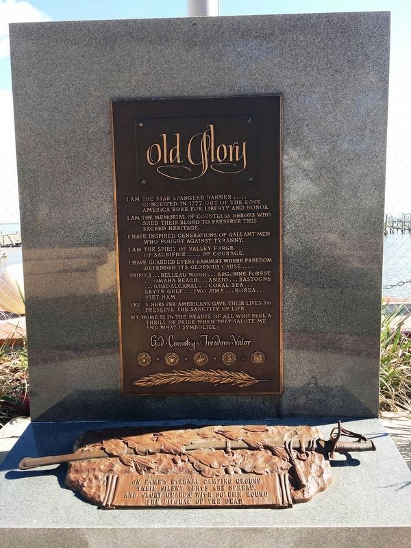 Top Plaque of Old Glory Marker image. Click for full size.