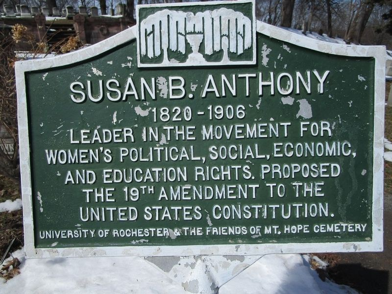Susan B. Anthony Marker image. Click for full size.