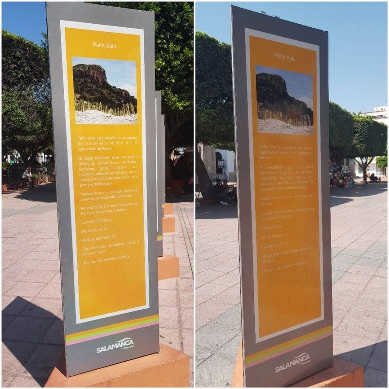 An additional, nearby marker on the Peña Sola Monolith image. Click for full size.