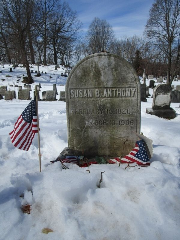 Susan B. Anthony Grave image. Click for full size.