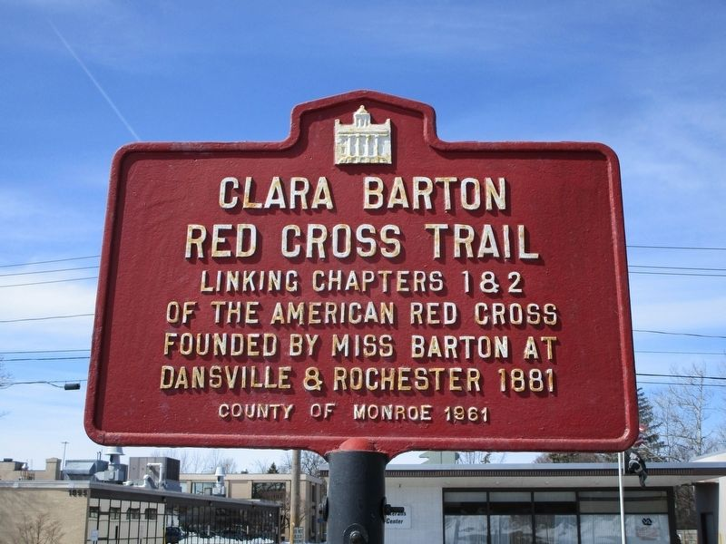 Clara Barton Red Cross Trail Marker image. Click for full size.