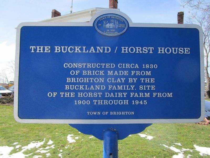 The Buckland / Horst House Marker image. Click for full size.