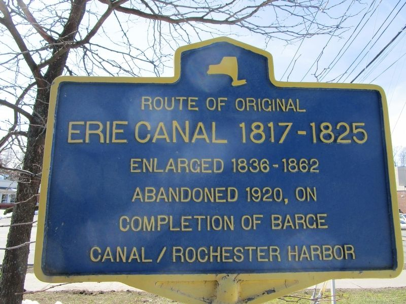 Route of Original Erie Canal Marker image. Click for full size.