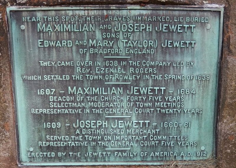 Maximilian and Joseph Jewett Marker image. Click for full size.