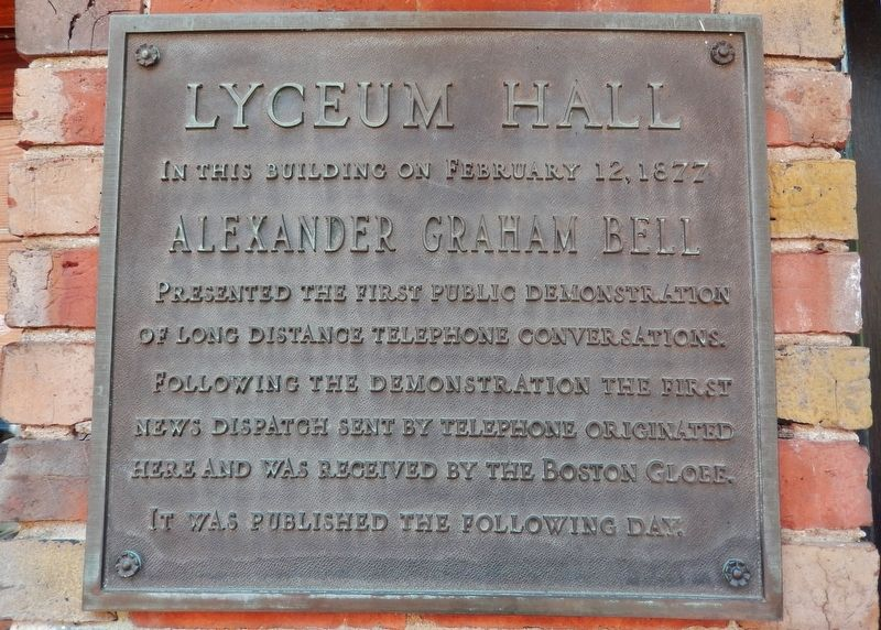 Lyceum Hall Marker image. Click for full size.