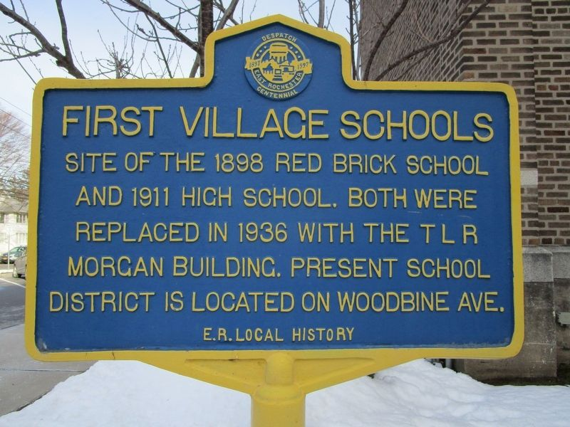 First Village Schools Marker image. Click for full size.