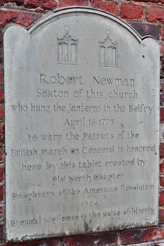 Robert Newman Marker image. Click for full size.