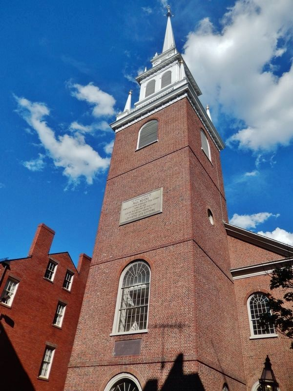 North Church Steeple & Belfry (<i>view from Salem Street</i>) image. Click for full size.