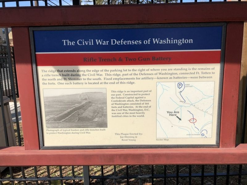 The Civil War Defenses of Washington Marker image. Click for full size.