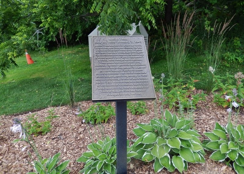 Nikola Tesla Marker (<i>wide view</i>) image. Click for full size.