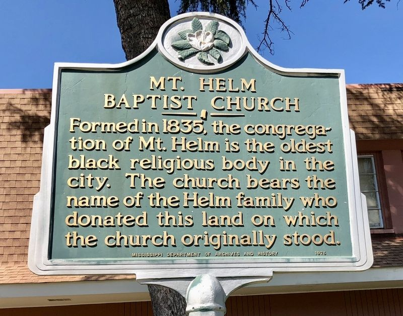Mt. Helm Baptist Church Marker image. Click for full size.