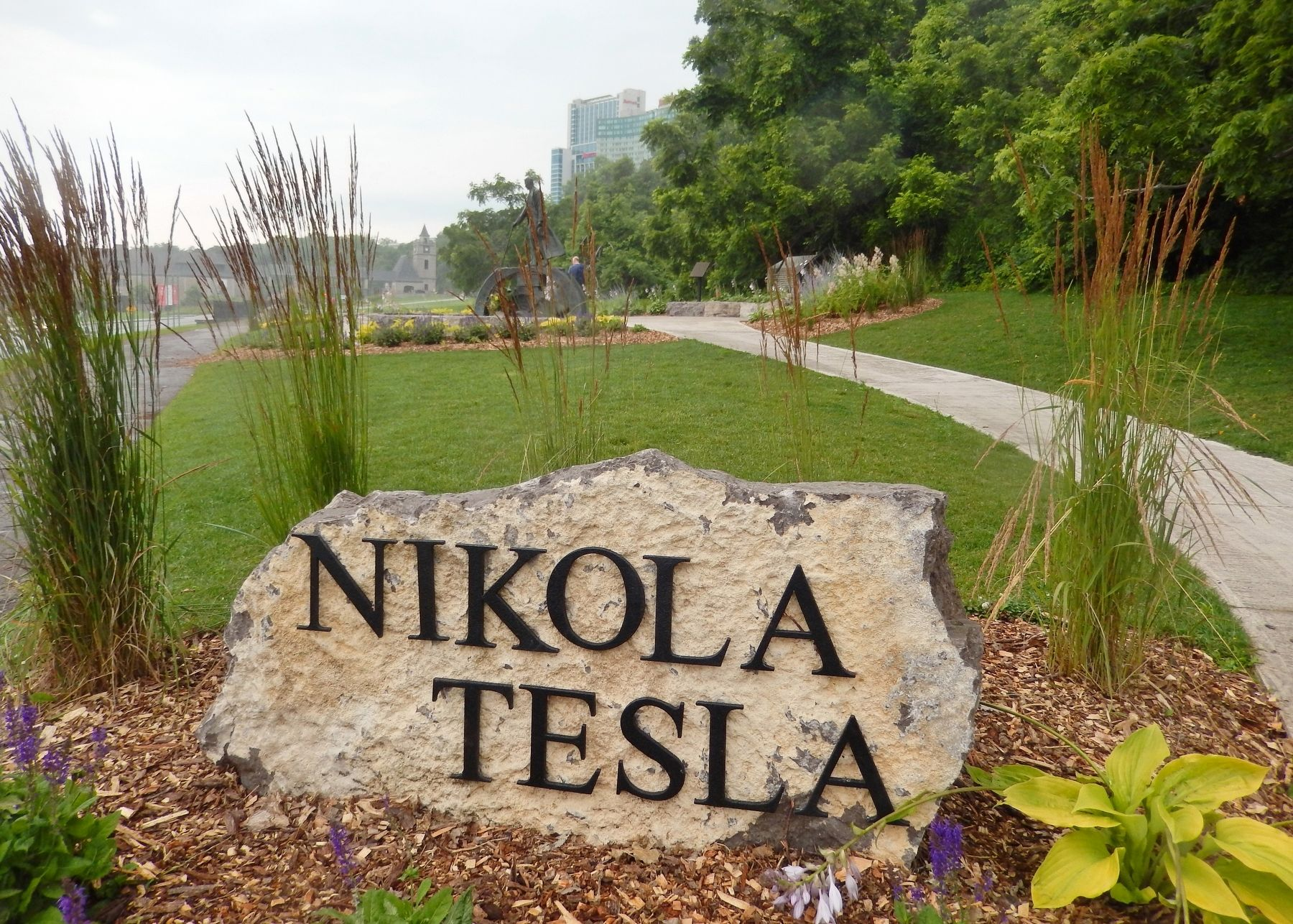 Nikola Tesla Monument Entrance image. Click for full size.