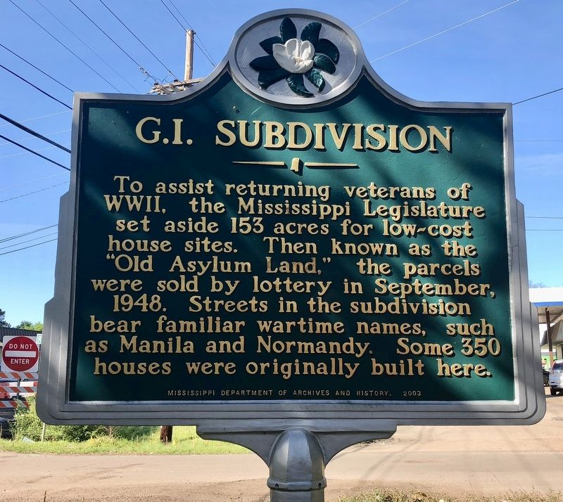 G.I. Subdivision Marker image. Click for full size.