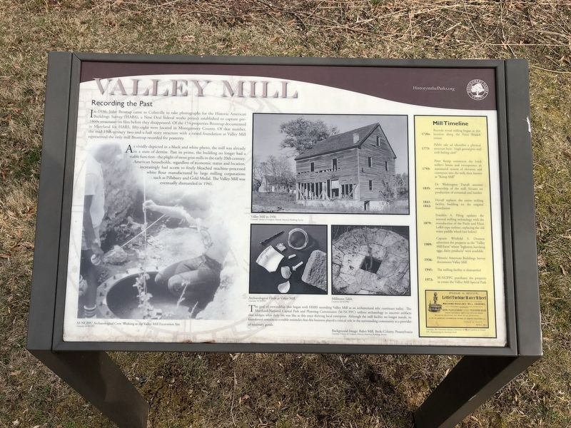 Valley Mill Marker image. Click for full size.
