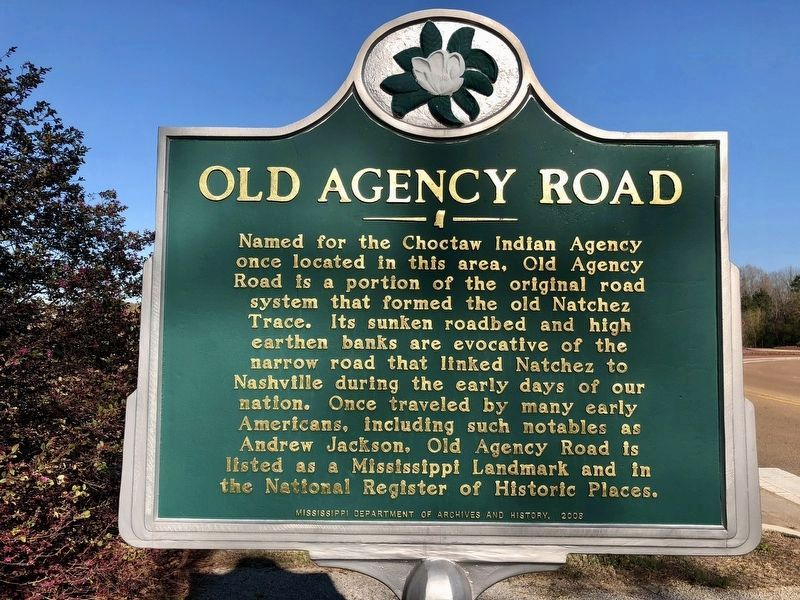 Old Agency Road Marker image. Click for full size.