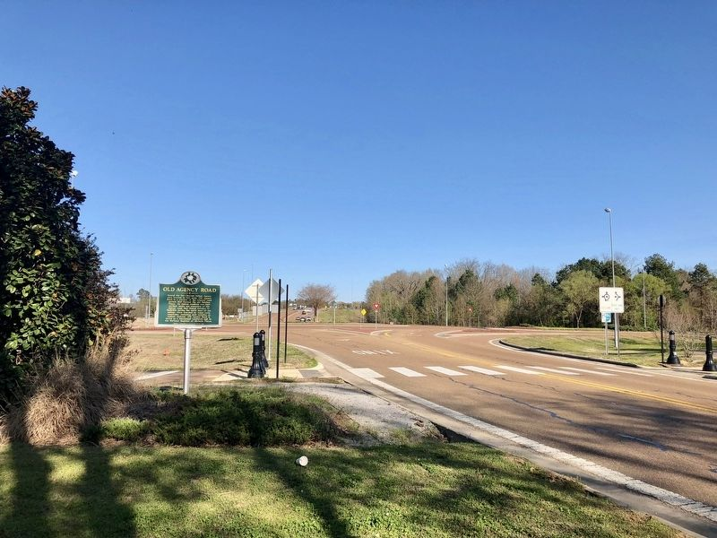 View from marker east towards Highland Colony Parkway and downtown Ridgeland. image. Click for full size.