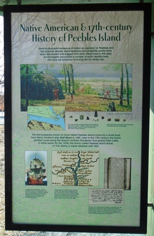Native American & 17th-century History of Peebles Island Marker image. Click for full size.