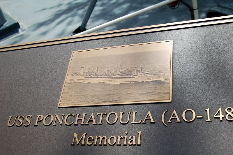 USS Ponchatoula Memorial Marker image. Click for full size.