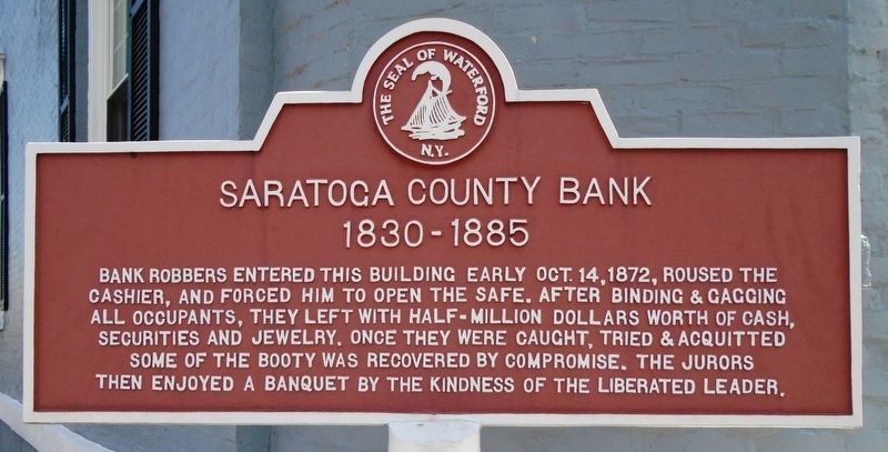Saratoga County Bank Marker image. Click for full size.