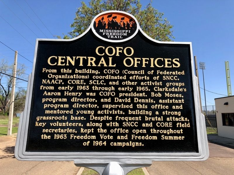 COFO Central Offices Marker (front) image. Click for full size.
