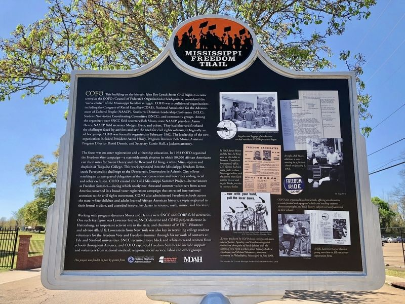 COFO Central Offices Marker (rear) image. Click for full size.