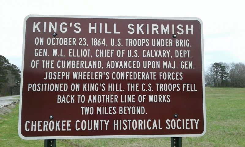 King's Hill Skirmish Marker image. Click for full size.