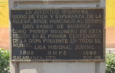 Vasco de Quiroga Marker image. Click for full size.