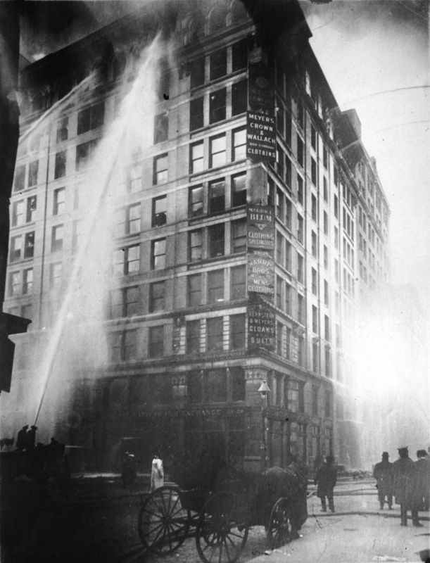Triangle Shirtwaist Factory Fire image. Click for full size.
