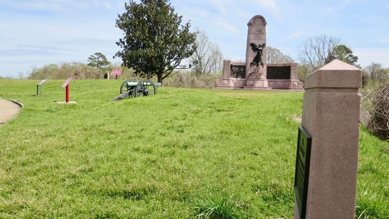 Marker is on far left looking back north towards Stockade Redan. image. Click for full size.