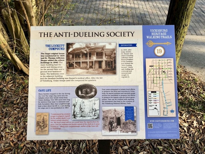 The Anti-Dueling Society Marker image. Click for full size.