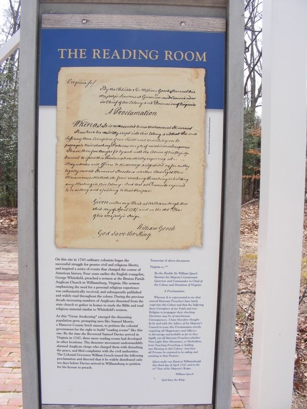 The Reading Room Marker image. Click for full size.