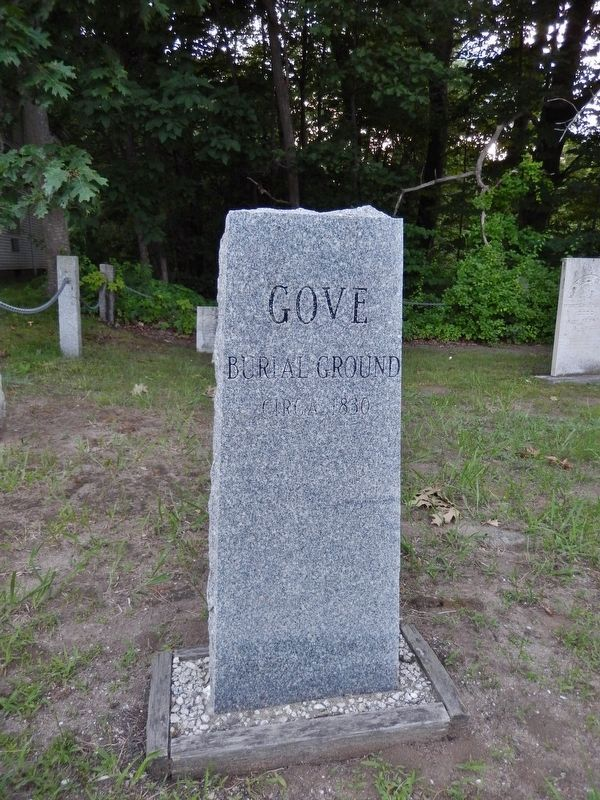 Gove Burial Ground, circa 1830 (<i>across highway from marker</i>) image. Click for full size.