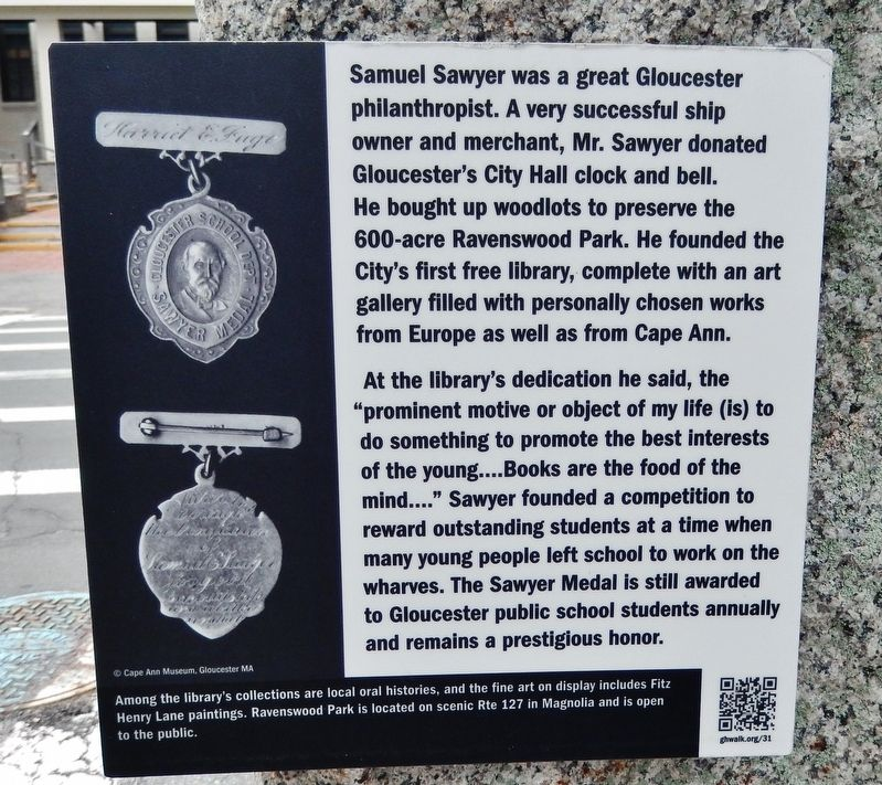 Samuel Sawyer Marker image. Click for full size.