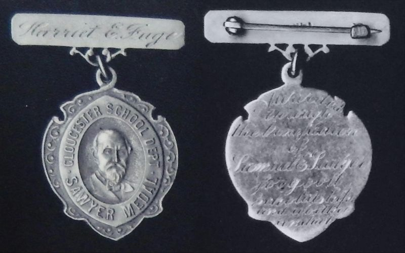 Marker detail: Samuel Sawyer Medal image. Click for full size.