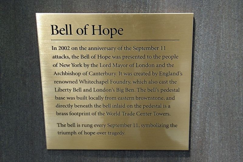 Bell of Hope Marker image. Click for full size.