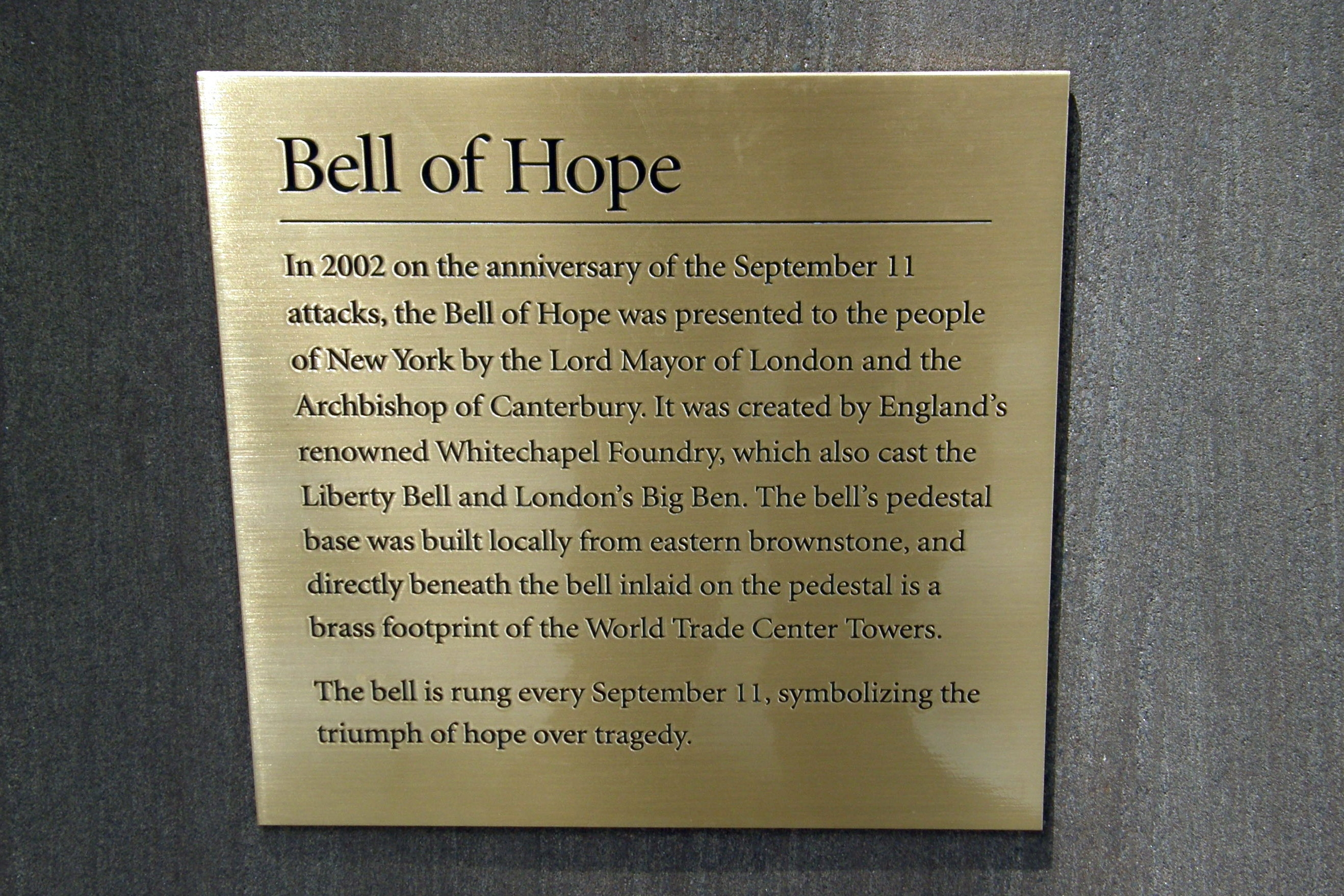 Bell of Hope Marker